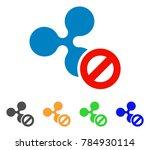 cancel ripple icon. vector... | Shutterstock .eps vector #784930114