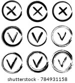 tick and cross vector signs.... | Shutterstock .eps vector #784931158