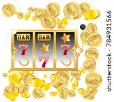 casino. golden slot machine... | Shutterstock .eps vector #784931566