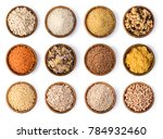 cereals set isolated on white... | Shutterstock . vector #784932460