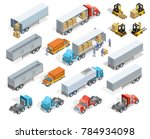 transportation isometric... | Shutterstock . vector #784934098