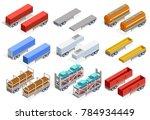 trailers isometric set of... | Shutterstock . vector #784934449
