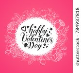 happy valentines day card hand... | Shutterstock .eps vector #784937818