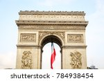 arc de triomphe in paris city ...   Shutterstock . vector #784938454