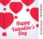 happy valentine's day greetings ... | Shutterstock .eps vector #784938466