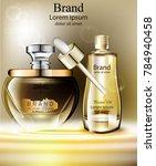 cosmetics oil set vector... | Shutterstock .eps vector #784940458