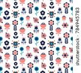 fun floral pattern | Shutterstock .eps vector #784945783