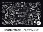 healthy food. vegetarian big... | Shutterstock .eps vector #784947319