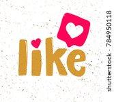 like sticker typography... | Shutterstock .eps vector #784950118