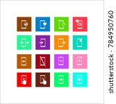 phone icon. flat  icon set | Shutterstock . vector #784950760