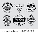 labels set of adventure and... | Shutterstock . vector #784955224