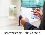 fact sheet of a mutual fund... | Shutterstock . vector #784957546