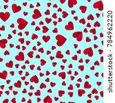 simple hearts seamless vector... | Shutterstock .eps vector #784962220