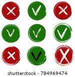 tick and cross vector signs.... | Shutterstock .eps vector #784969474