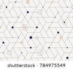 Geometric Grid With Intricate...
