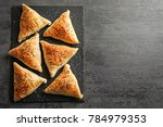 slate plate with delicious... | Shutterstock . vector #784979353