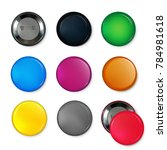 empty circle badges or buttons... | Shutterstock . vector #784981618