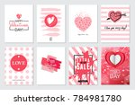 set of valentine's day artistic ... | Shutterstock . vector #784981780