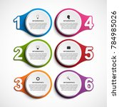 abstract options infographics... | Shutterstock .eps vector #784985026
