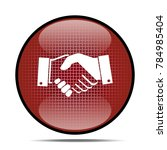 handshake icon .internet button.... | Shutterstock . vector #784985404