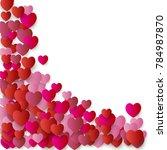 heart corner confetti... | Shutterstock .eps vector #784987870