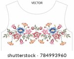 embroidery graphic for t shirt   Shutterstock .eps vector #784993960