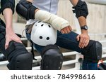 injuries and fractures in... | Shutterstock . vector #784998616