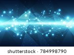 abstract vector blue technology ... | Shutterstock .eps vector #784998790