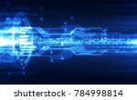 abstract vector blue technology ... | Shutterstock .eps vector #784998814