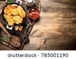 fresh chicken nuggets with... | Shutterstock . vector #785001190