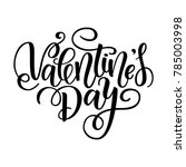 happy valentine's day vector... | Shutterstock .eps vector #785003998