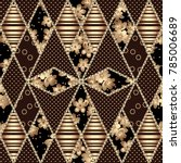 gorgeous seamless patchwork... | Shutterstock .eps vector #785006689