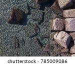 aerial view of rocks on the sea.... | Shutterstock . vector #785009086