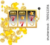 casino. golden slot machine... | Shutterstock .eps vector #785012356