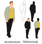 isolated silhouette man... | Shutterstock . vector #785014168