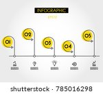 yellow outline timeline with... | Shutterstock .eps vector #785016298
