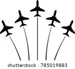 airplane flying formation  air... | Shutterstock . vector #785019883