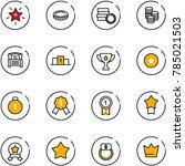 line vector icon set  ... | Shutterstock .eps vector #785021503