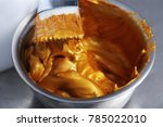 container with brush of anti... | Shutterstock . vector #785022010