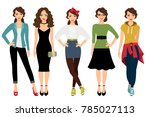 womans fashion styles...   Shutterstock . vector #785027113