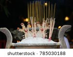fire candle  burning stick ... | Shutterstock . vector #785030188