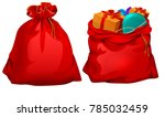 full gift open and closed santa ... | Shutterstock .eps vector #785032459
