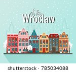 vector illustration of winter... | Shutterstock .eps vector #785034088