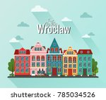 vector illustration of wroclaw  ... | Shutterstock .eps vector #785034526