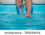 girls feet splashing in...   Shutterstock . vector #785034616