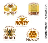 honey icon with natural sweet... | Shutterstock .eps vector #785036314