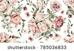 seamless pattern with flowers... | Shutterstock . vector #785036833