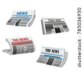 newspaper icon of folded... | Shutterstock .eps vector #785036950