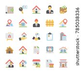 real estate flat vector icons...