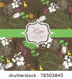 floral print for book cover and ... | Shutterstock .eps vector #78503845